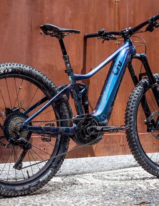 The eye-catching new Intrigue E+ Pro 1 women's e-mountain bike