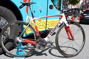 Aru has opted for a small frame but plenty of seatpost