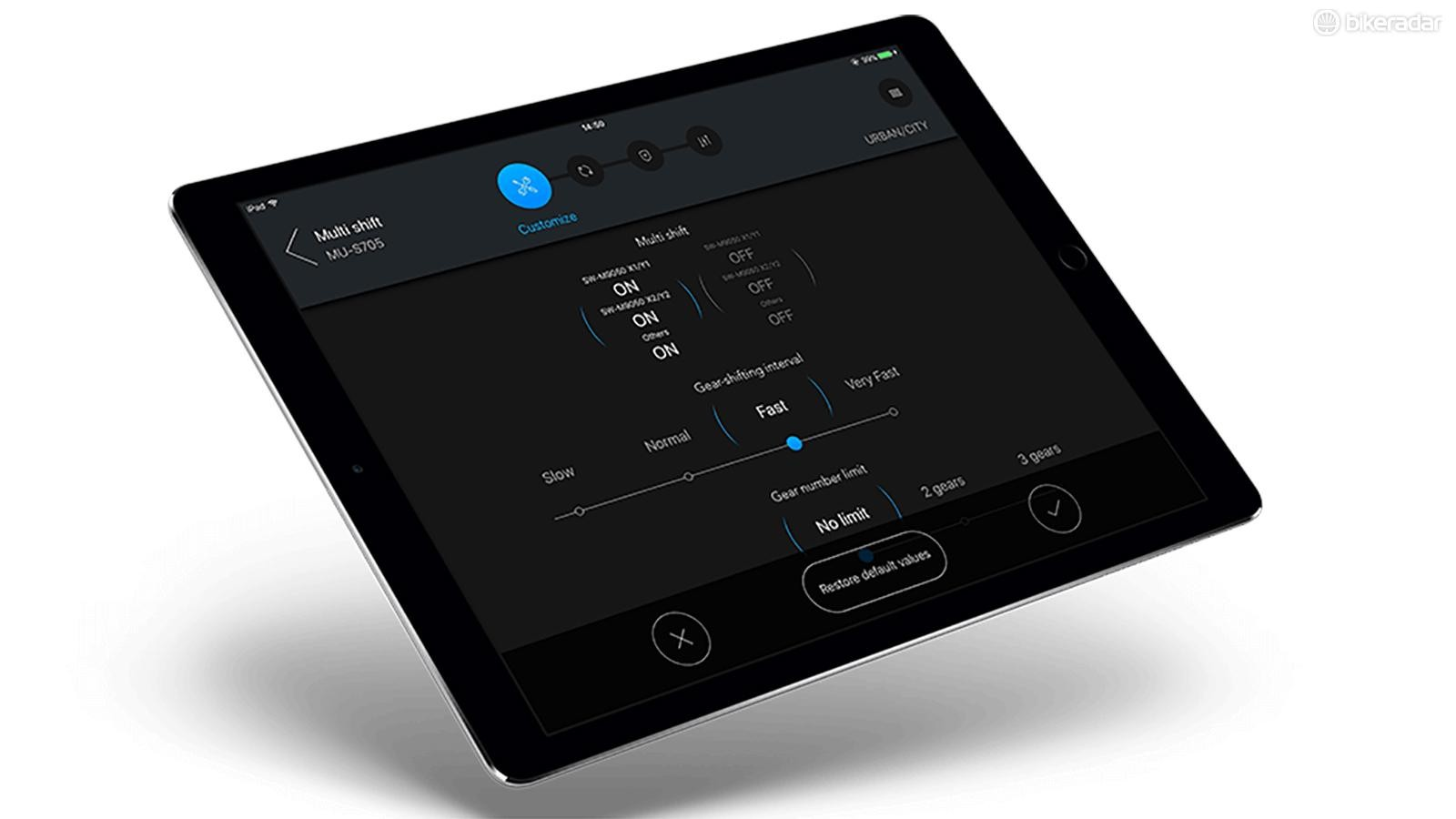 Riders can now make adjustments and firmware updates via an iPad app