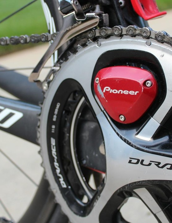 Pioneer's power meter mounts on Shimano cranks, and now comes in dual-leg and single-leg options