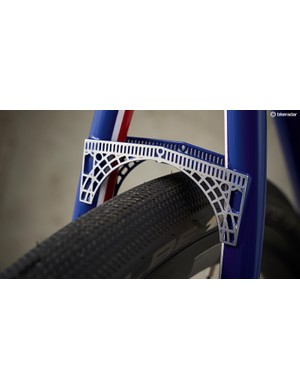 Rear seatstays are joined by a beautiful filigree-worked Iron Bridge