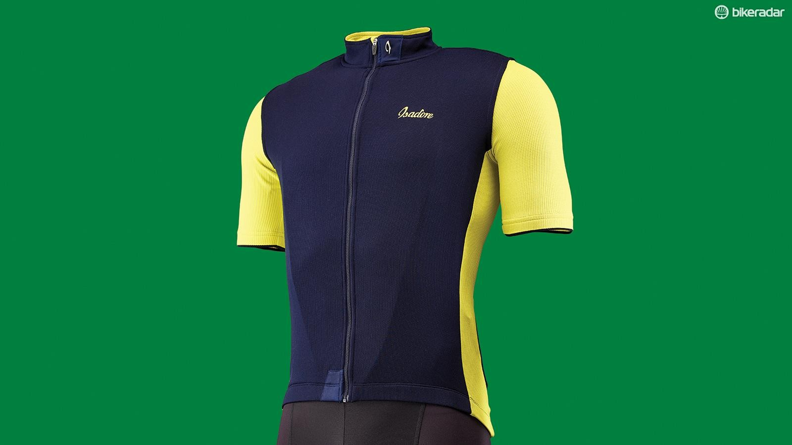The Signature jersey uses a mix of merino wool, polyester and Lycra