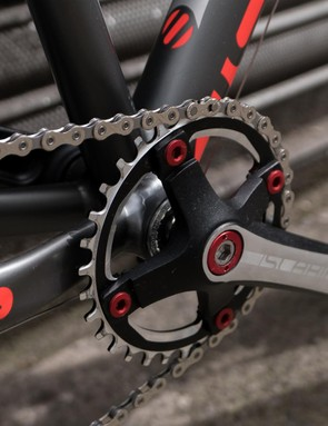 All the mountain bikes have neat narrow-wide tooth rings