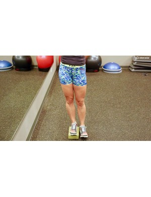 Elevate the foot — drop the opposing hip by allowing the standing-leg hip to 'relax' — reverse the motion by activating the standing-leg glute musculature