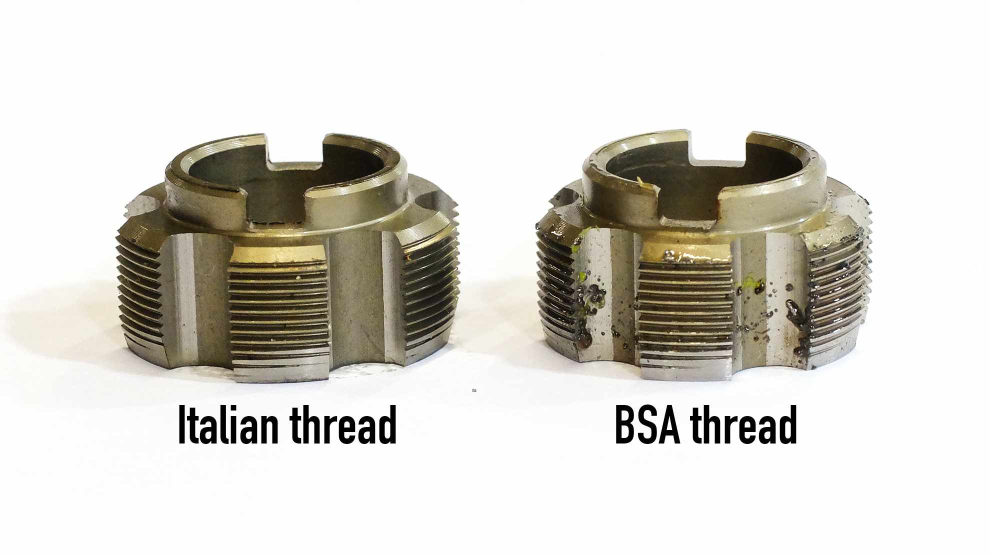 The difference between an Italian threaded and BSA threaded bottom bracket is incredibly subtle. Unsurprisingly, our Italian threaded tap doesn't see too much action
