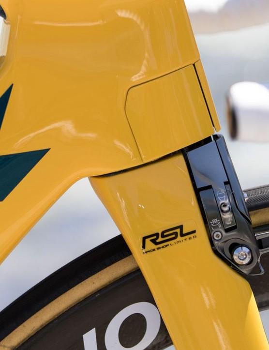 Integrated brakes offer an impressively sleek frontal profile