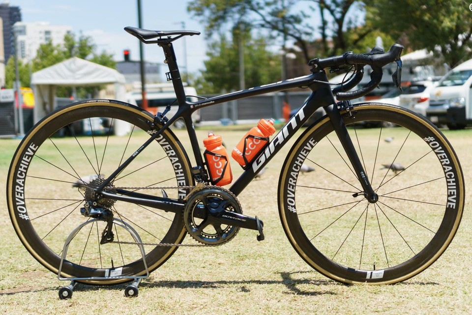 b0e77fabb45 CCC Team will be riding a fleet of handsome black Giant TCR Advanced SL  bikes this