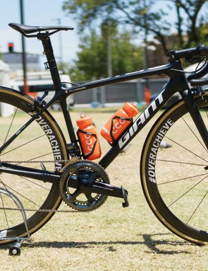 CCC Team will be riding a fleet of handsome black Giant TCR Advanced SL bikes this season