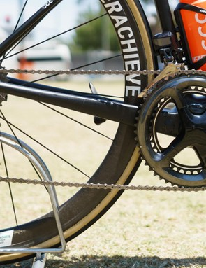 The bike is built around a Shimano Dura-Ace R9150 drivetrain