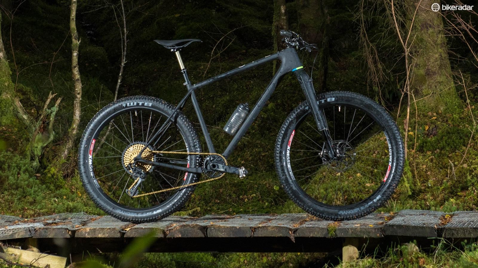 Open's stunning sub-1kg One+ frame deserves a suitably golden build up from SRAM, RockShox, DT Swiss, USE, KS, Fabric and WTB