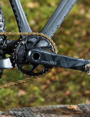 Each link of the chain takes 35 different machining processes to make and the multi hooked tooth profiles of the chainring spread torque load to reduce wear