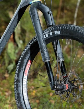 RockShox' radical upside down RS-1 29er fork will also take a plus wheel if you build it onto the crucial Predictive Steering hubs