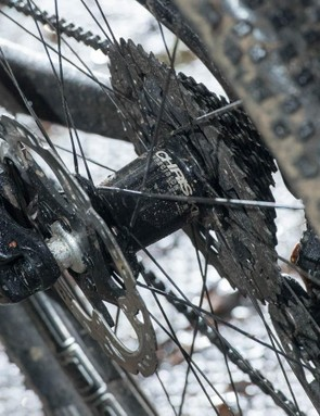 The handmade Chris King hubs use a distinctive fast buzzing clutch system for almost immediate pick up and acceleration
