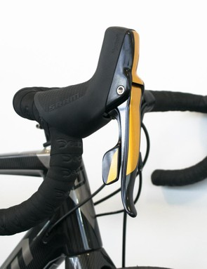 We rather like these levers with gold accents