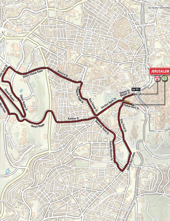 The Giro will open with a 10km time trial in Jerusalem, followed by two road stages in Israel