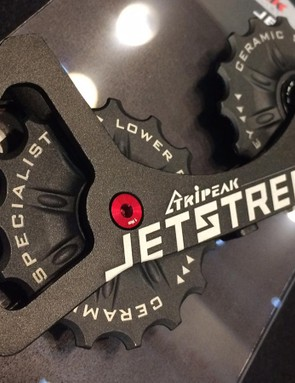 Jetstream offers derailleur cage upgrades in carbon and alloy (shown)
