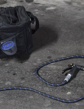The JetWet Sport Power Washer is a self contained machine