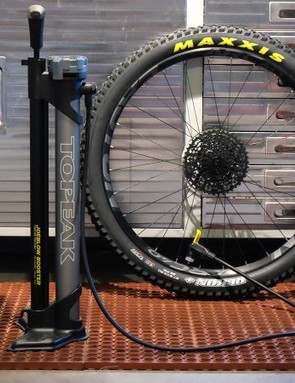 Topeak's new JoeBlow Booster is designed to seat stubborn tubeless setups
