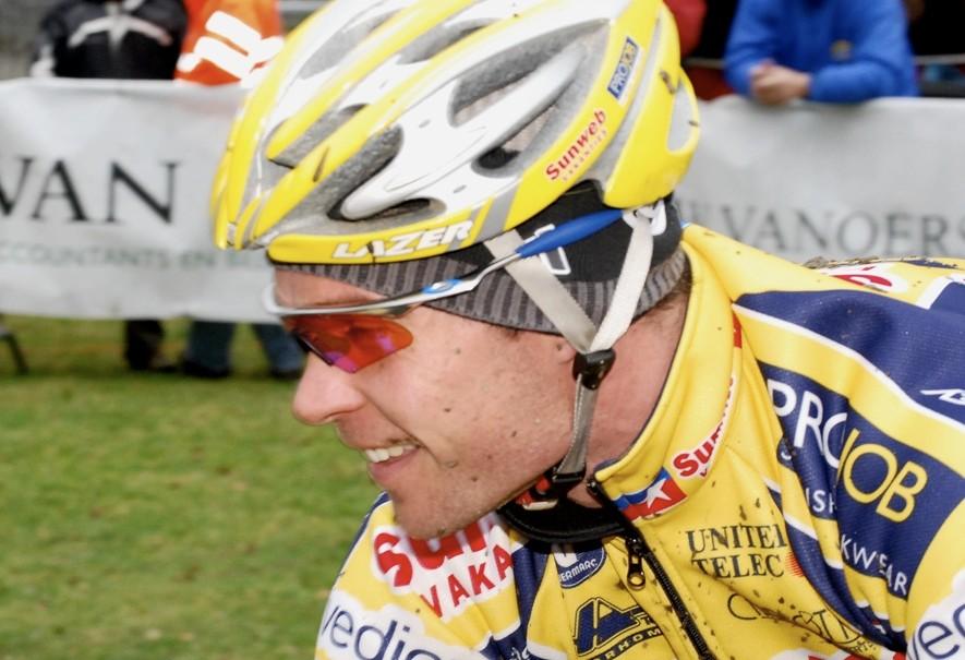 American cyclo-cross racer Jonathan Page in Europe.