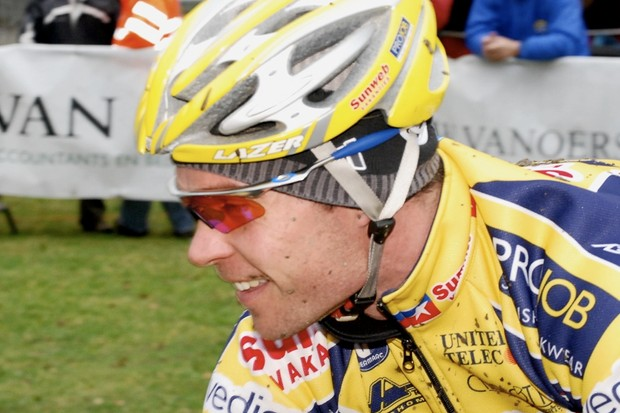 American cyclo-cross racer Jonathan Page in Europe.