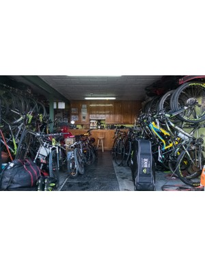 José has kept at least one bike from each year of his 20 year racing career