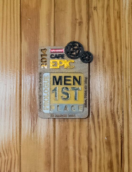 What 'trinkets' do you have kicking around your garage? Probably none as cool as a 1st place medal from the Cape Epic