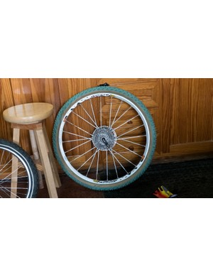 This more modern Crossmax wheel was also shod in the handsome green rubber