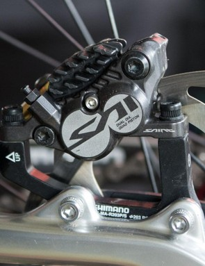 Shimano Saint brakes continue to deliver all the braking power top riders need