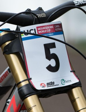 During the Cairns World Cup round, we had a quick chat with Bryceland and a close look at his race bike