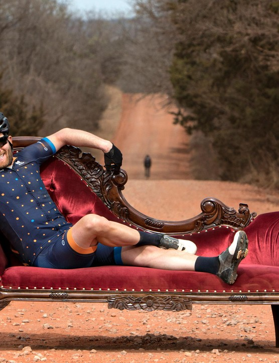 Salsa's chaise lounge gave riders a chance to take a load off, if only for a few seconds