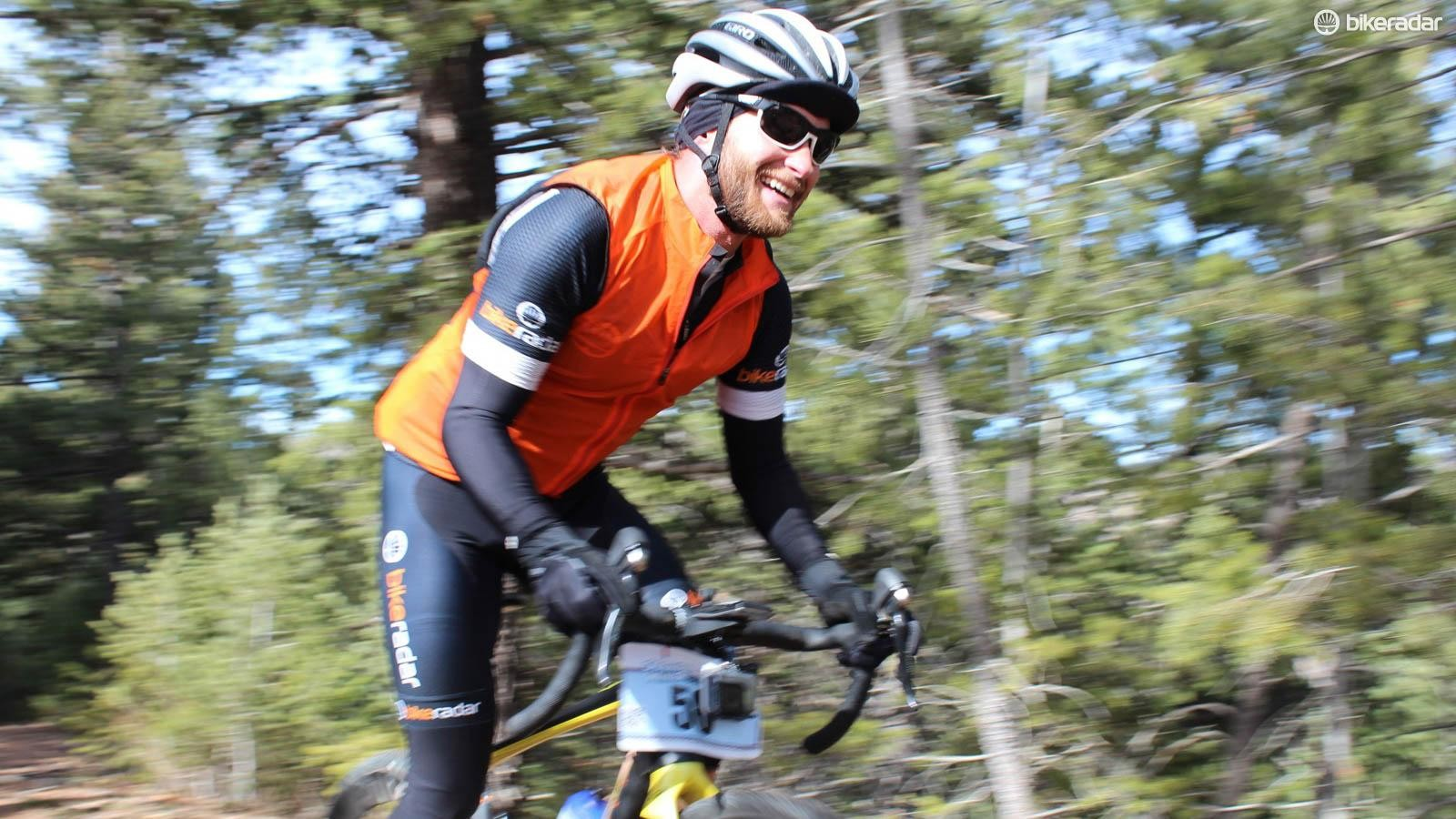 The singletrack section was Josh's favourite portion of the Old Man Winter Rally in Lyons, Colorado