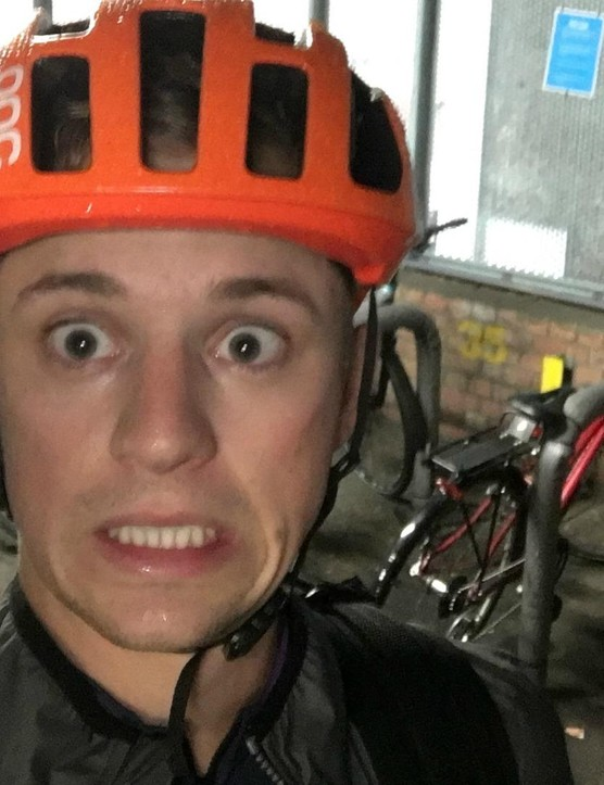 Josh hasn't been riding for a while... shame it was so wet!