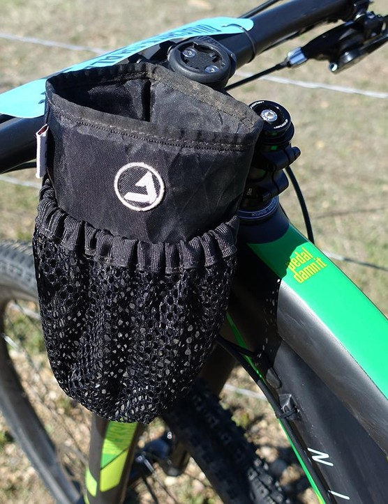 Denver-based Jpaks produces great bikepacking bags, among them the RukSak where I carried a large water bottle and gels