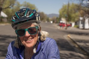 At 72 years' of age, Judy Lokey averages 200 miles a week in the warmer months