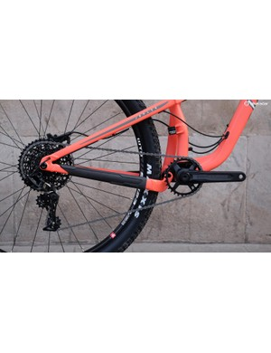 The SRAM NX 1x11 groupset includes an upgraded GX 10-42t cassette