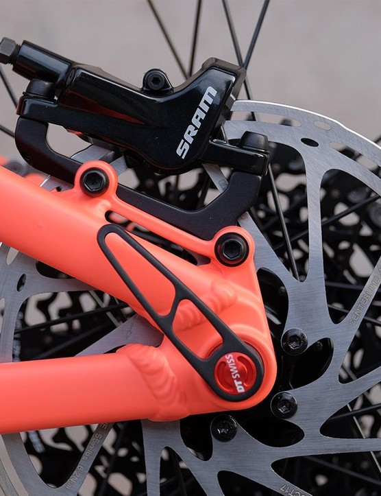 SRAM Level T brakes are relatively basic but good