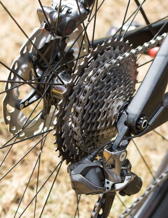Perhaps a little limited for the everyday punter, but Absalon is comfortable with the XTR's 11-40t cassette and a single ring up front