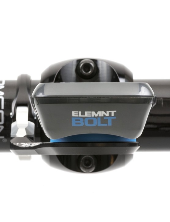 Wahoo is selling its new Bolt GPS computer and mount as an aero system, but the K-Edge Bolt Race Mount is quite svelte and puts the computer in line with the stem