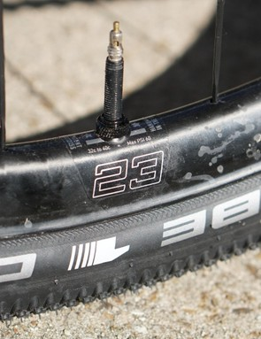 The 23 is for the 23mm internal width, not the 25mm rim height