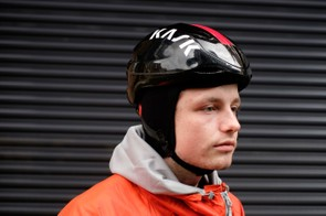 Pair the Kask helmet cap with its Infinity pop-top aero lid, and you'll be well prepared. Jack here can't wait until winter