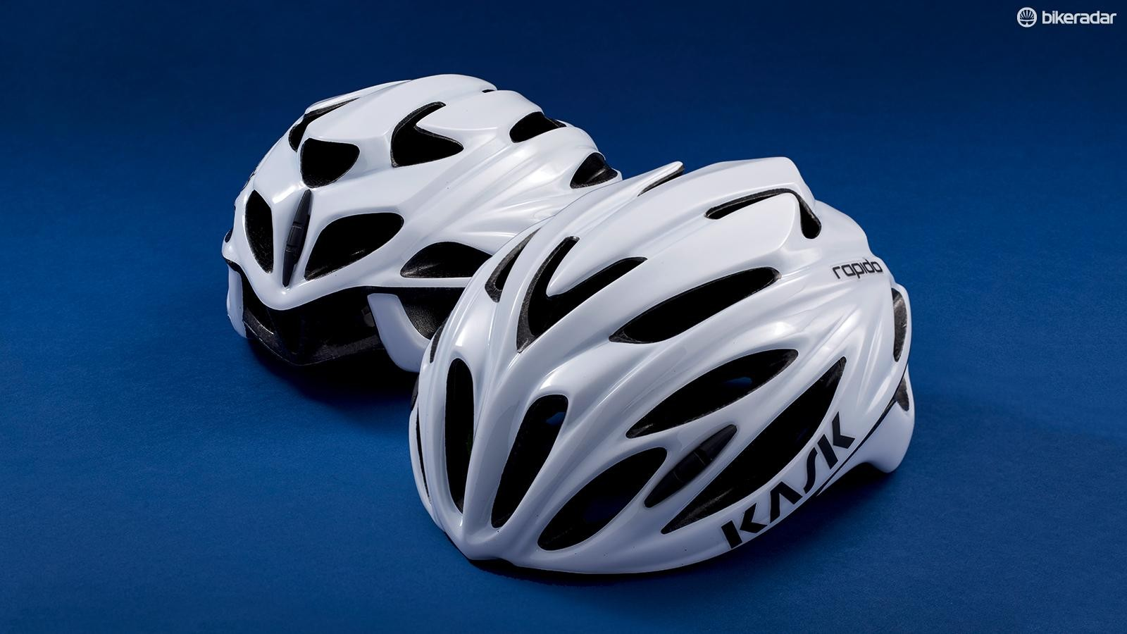 The Kask Rapido is lightweight and well ventilated