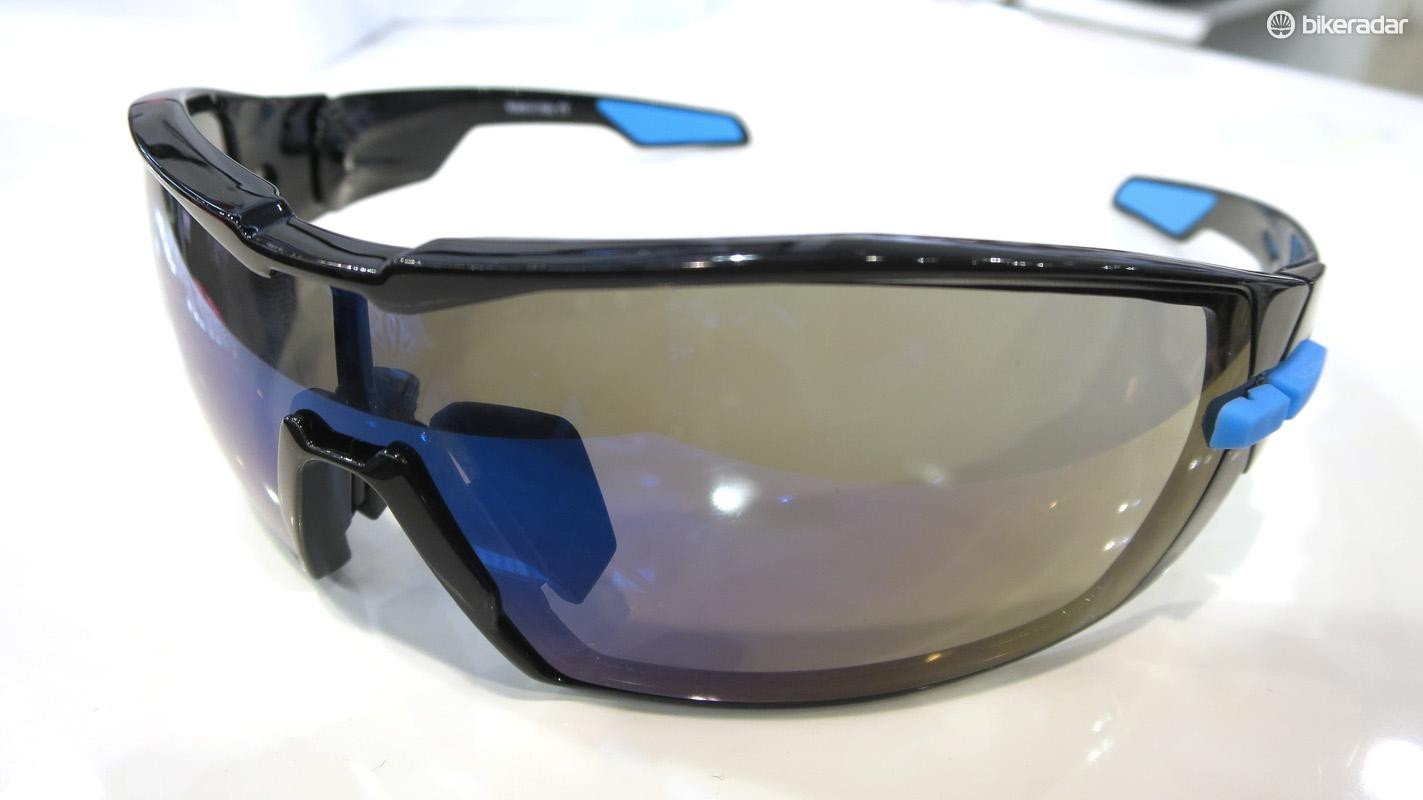 Kask's new glasses are available in 12 colourways, including this black and blue Team Sky inspired version