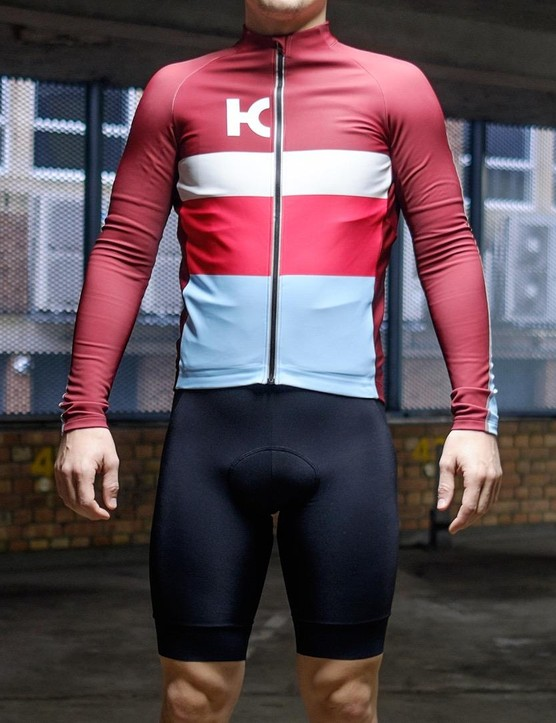 Katusha Sports' Warm long-sleeve jersey and bib shorts