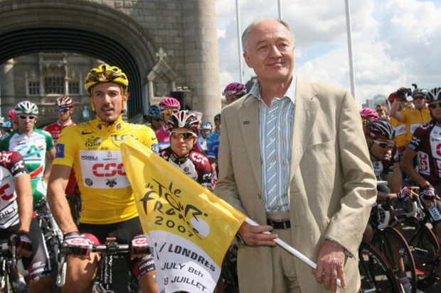 Livingstone at the Grand Depart in 2007.