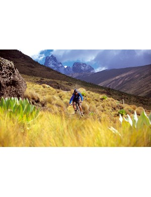 Mt. Kenya offers spectacular vistas and great riding.