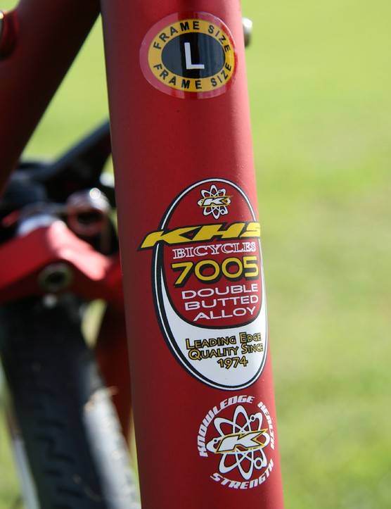 Plenty of information on the seat tube