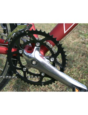 Compact chainset gives a very welcome wide gear range