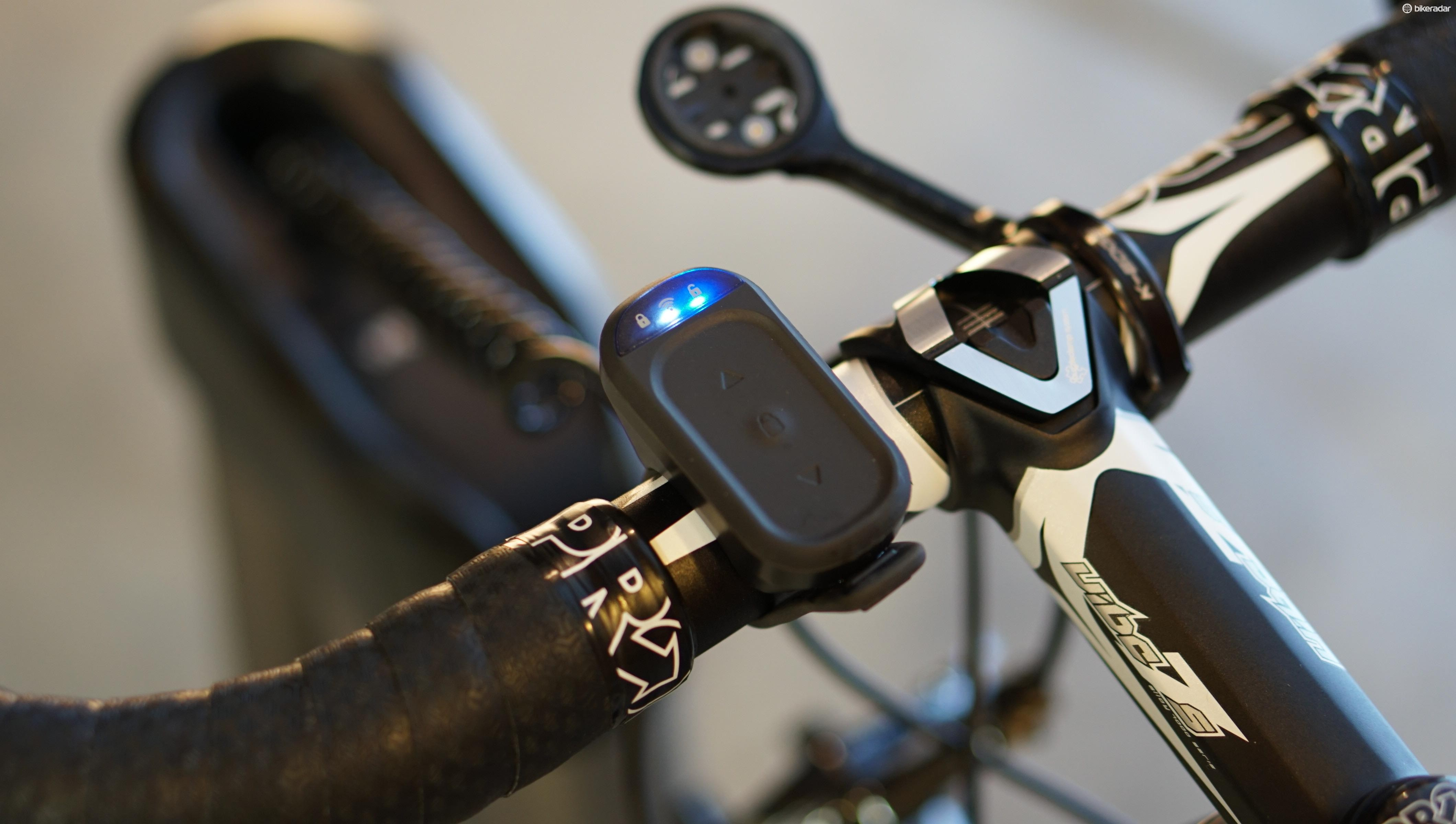The remote can be used to manually raise or lower the bars