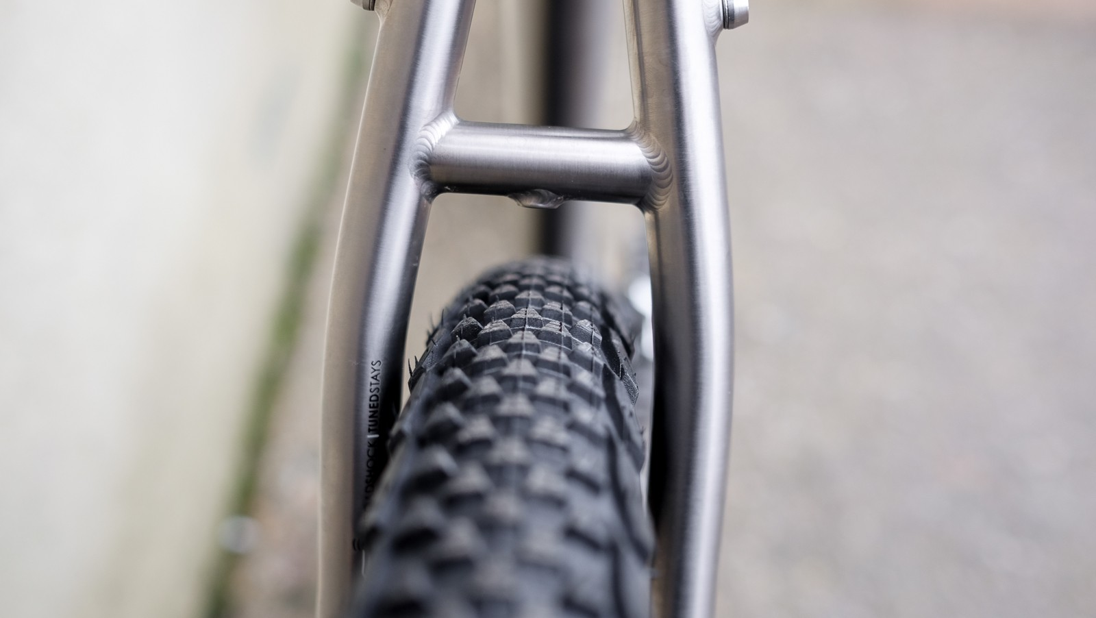 """Clearances were quite tight with a 2.2"""" tyre, but should be OK for all but the muddiest rides"""
