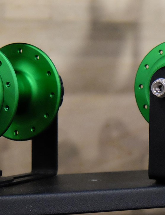The Emerald hubs, headsets and bottom brackets are a limited edition color